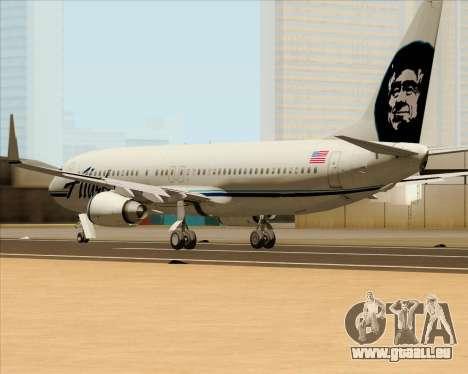 Boeing 737-890 Alaska Airlines für GTA San Andreas zurück linke Ansicht
