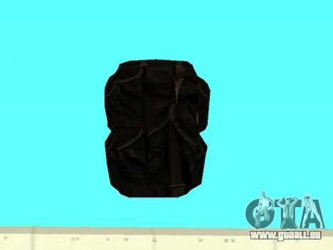Noir sac à dos de Stalker pour GTA San Andreas troisième écran
