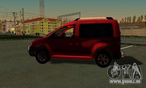 Volkswagen Caddy pour GTA San Andreas laissé vue
