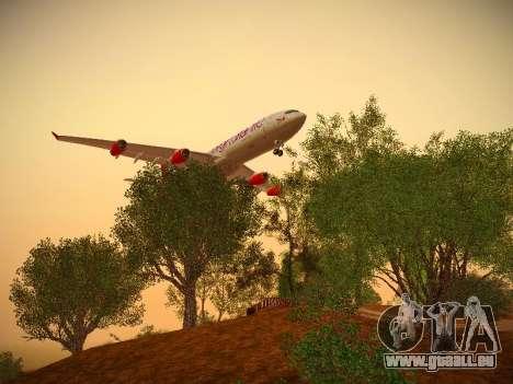 Airbus A340-300 Virgin Atlantic pour GTA San Andreas vue arrière