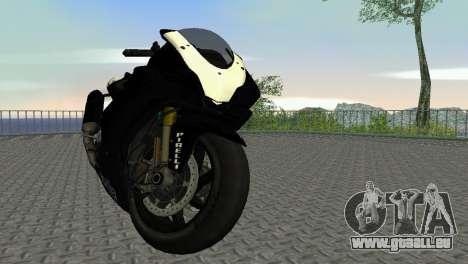 Aprilia RSV4 2009 Black Edition pour une vue GTA Vice City de la gauche