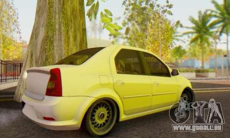 Dacia Logan White für GTA San Andreas zurück linke Ansicht