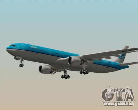 Airbus A330-300 KLM Royal Dutch Airlines pour GTA San Andreas vue de dessous