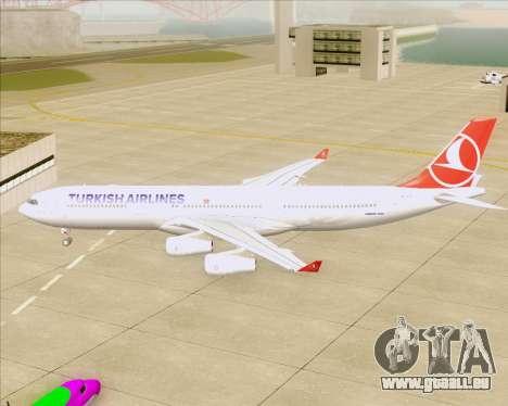 Airbus A340-313 Turkish Airlines pour GTA San Andreas vue arrière