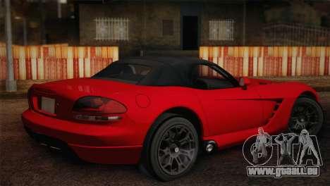 Dodge Viper SRT-10 2003 pour GTA San Andreas laissé vue