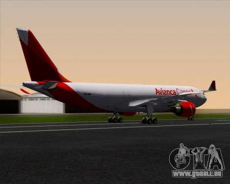 Airbus A330-243F Avianca Cargo für GTA San Andreas zurück linke Ansicht