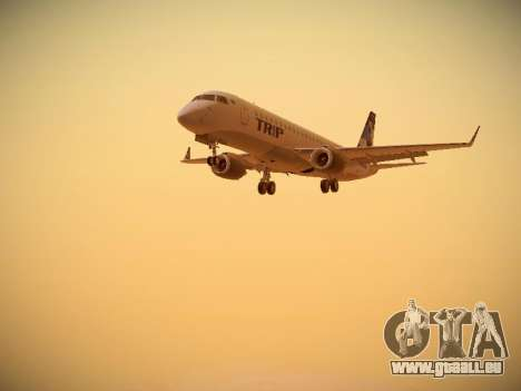 Embraer E190 TRIP Linhas Aereas Brasileira pour GTA San Andreas laissé vue
