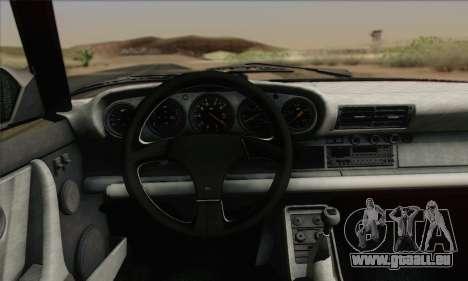 RUF CTR Yellowbird 1987 pour GTA San Andreas vue intérieure