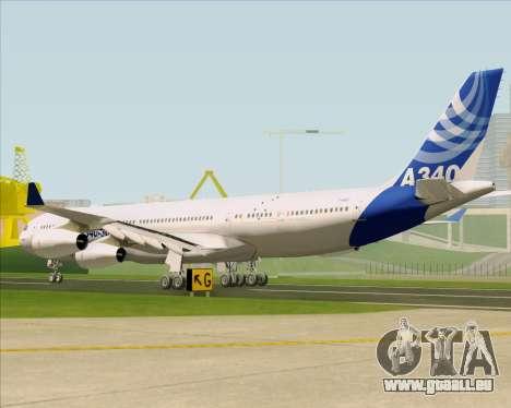 Airbus A340-311 House Colors pour GTA San Andreas sur la vue arrière gauche
