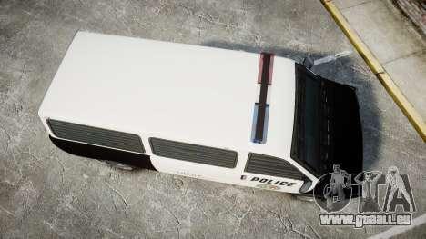 Declasse Burrito Police Transporter LED [ELS] für GTA 4 rechte Ansicht