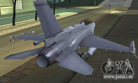 F-16D Block 60 pour GTA San Andreas laissé vue