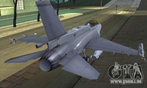 F-16D Block 60 für GTA San Andreas linke Ansicht