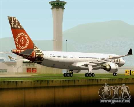 Airbus A330-200 Fiji Airways für GTA San Andreas rechten Ansicht