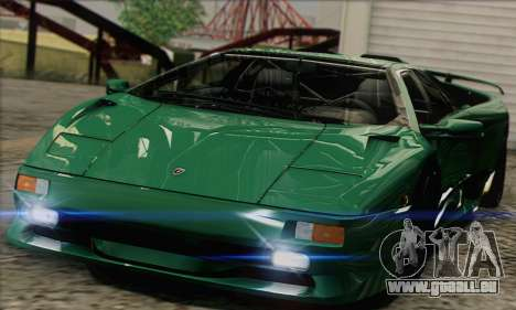 Lamborghini Diablo SV 1997 für GTA San Andreas zurück linke Ansicht