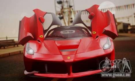 Ferrari LaFerrari F70 2014 pour GTA San Andreas vue de côté