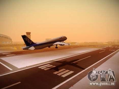 Airbus A320-211 All Nippon Airways pour GTA San Andreas sur la vue arrière gauche