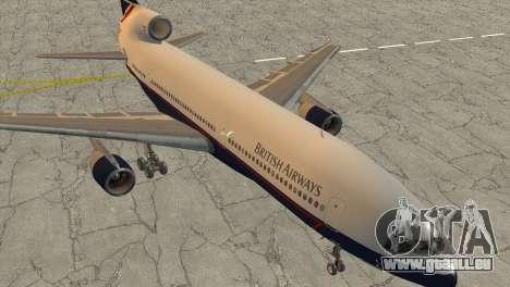 Lockheed L1011 Tristar British Airways pour GTA San Andreas sur la vue arrière gauche
