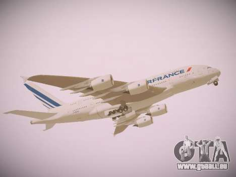Airbus A380-800 Air France für GTA San Andreas linke Ansicht