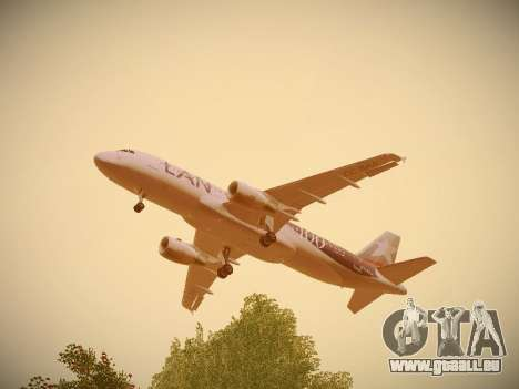 Airbus A320-214 LAN Airlines 100th Plane pour GTA San Andreas salon