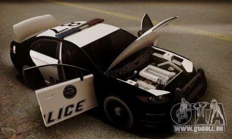 Vapid Police Interceptor from GTA V pour GTA San Andreas salon