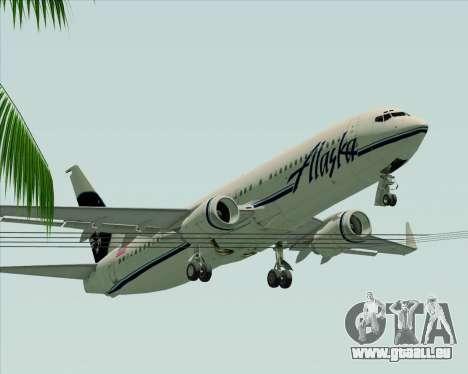 Boeing 737-890 Alaska Airlines für GTA San Andreas Unteransicht