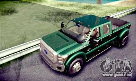 Ford F450 Super Duty 2013 HD pour GTA San Andreas vue de côté