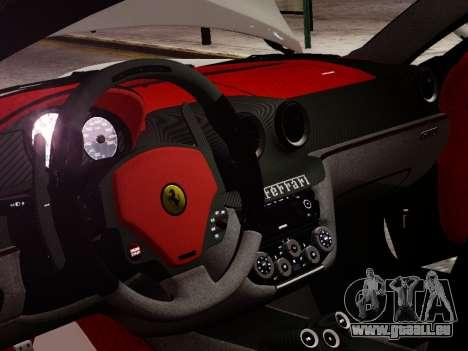Ferrari 599 GTO pour GTA 4 est une vue de l'intérieur