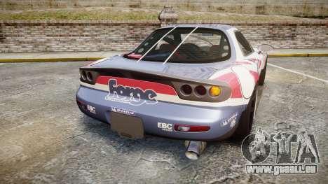 Mazda RX-7 Forge Motorsport pour GTA 4 Vue arrière de la gauche