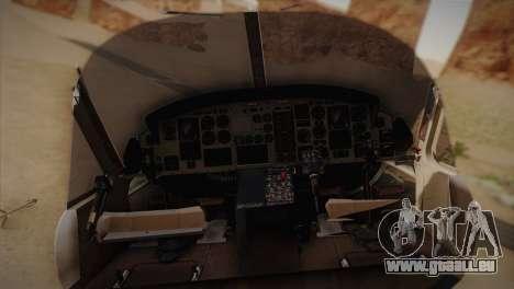 Bell UH-1N Twin Huey USMC pour GTA San Andreas sur la vue arrière gauche