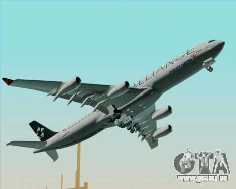 Airbus A340-311 Turkish Airlines (Star Alliance) pour GTA San Andreas vue de dessus