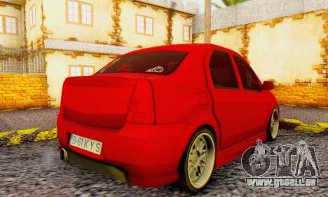 Dacia Logan B-61 für GTA San Andreas zurück linke Ansicht