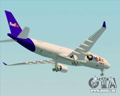Airbus A330-300P2F Federal Express für GTA San Andreas rechten Ansicht