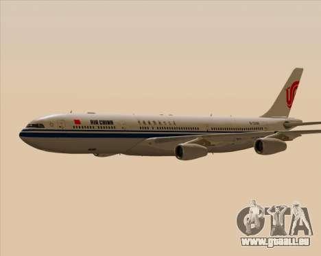Airbus A340-313 Air China für GTA San Andreas obere Ansicht