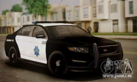 Vapid Police Interceptor from GTA V pour GTA San Andreas vue de dessous