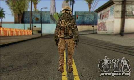 Task Force 141 (CoD: MW 2) Skin 17 pour GTA San Andreas deuxième écran