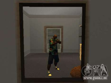 Chemise hawaïenne comme max Payne pour GTA San Andreas deuxième écran