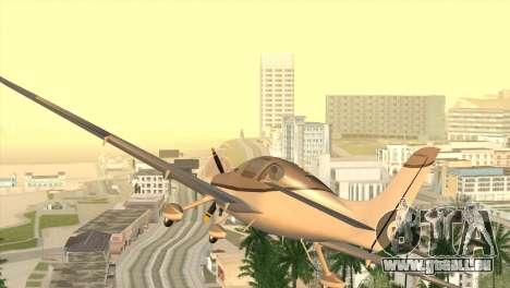 Cirrus SR-22 für GTA San Andreas zurück linke Ansicht
