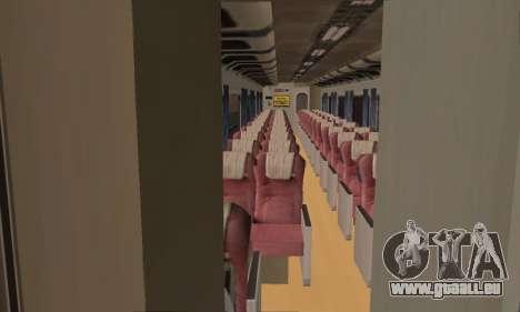 K1 Argo Traincar Indonesisch für GTA San Andreas Rückansicht