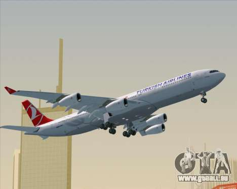 Airbus A340-313 Turkish Airlines für GTA San Andreas obere Ansicht