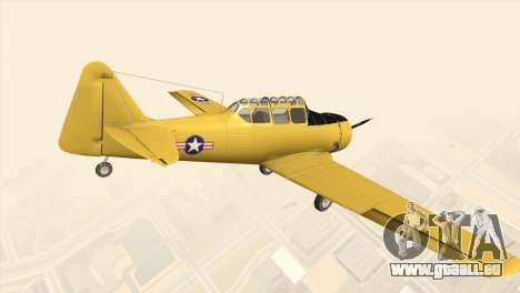 North American T-6 TEXAN für GTA San Andreas linke Ansicht