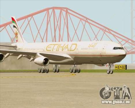 Airbus A340-313 Etihad Airways für GTA San Andreas linke Ansicht