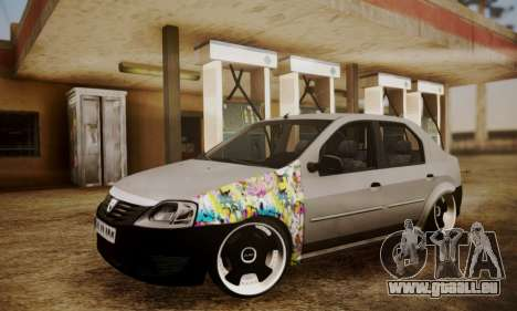 Dacia Logan Sedan Tuned für GTA San Andreas