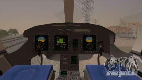 Bell 429 v2 pour GTA San Andreas sur la vue arrière gauche