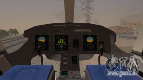 Bell 429 v2 für GTA San Andreas zurück linke Ansicht
