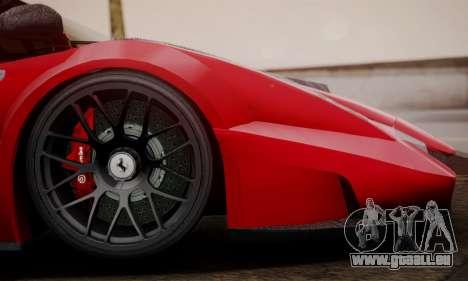 Ferrari Gemballa MIG-U1 pour GTA San Andreas sur la vue arrière gauche