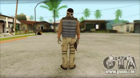 Arabian Resurrection Skin from COD 5 pour GTA San Andreas deuxième écran