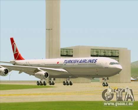 Airbus A340-313 Turkish Airlines für GTA San Andreas linke Ansicht