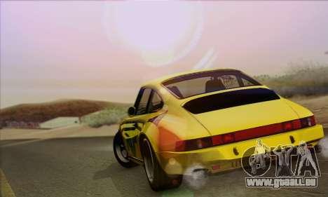 RUF CTR Yellowbird 1987 pour GTA San Andreas sur la vue arrière gauche