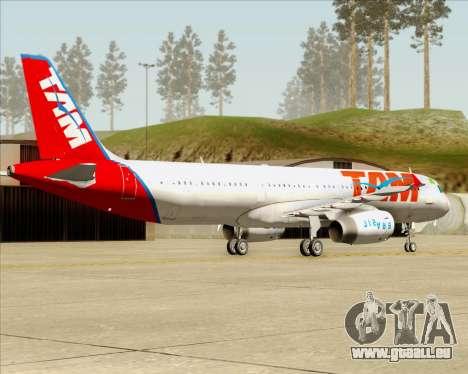 Airbus A321-200 TAM Airlines pour GTA San Andreas vue de droite