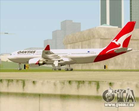 Airbus A330-200 Qantas für GTA San Andreas rechten Ansicht